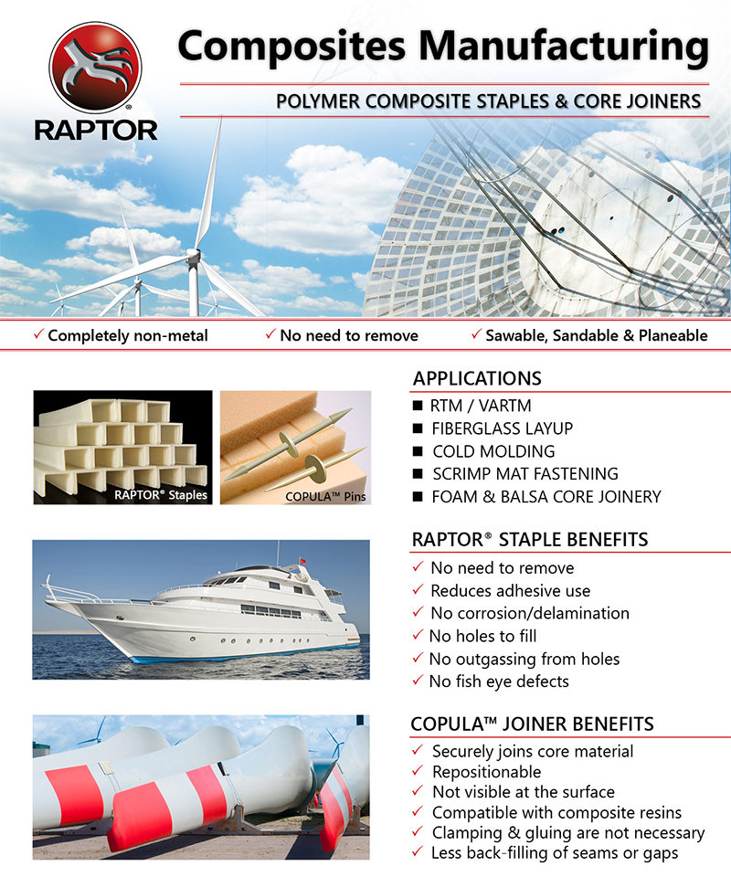 Raptor 174 Polymer Composite Nails Amp Staples Applications