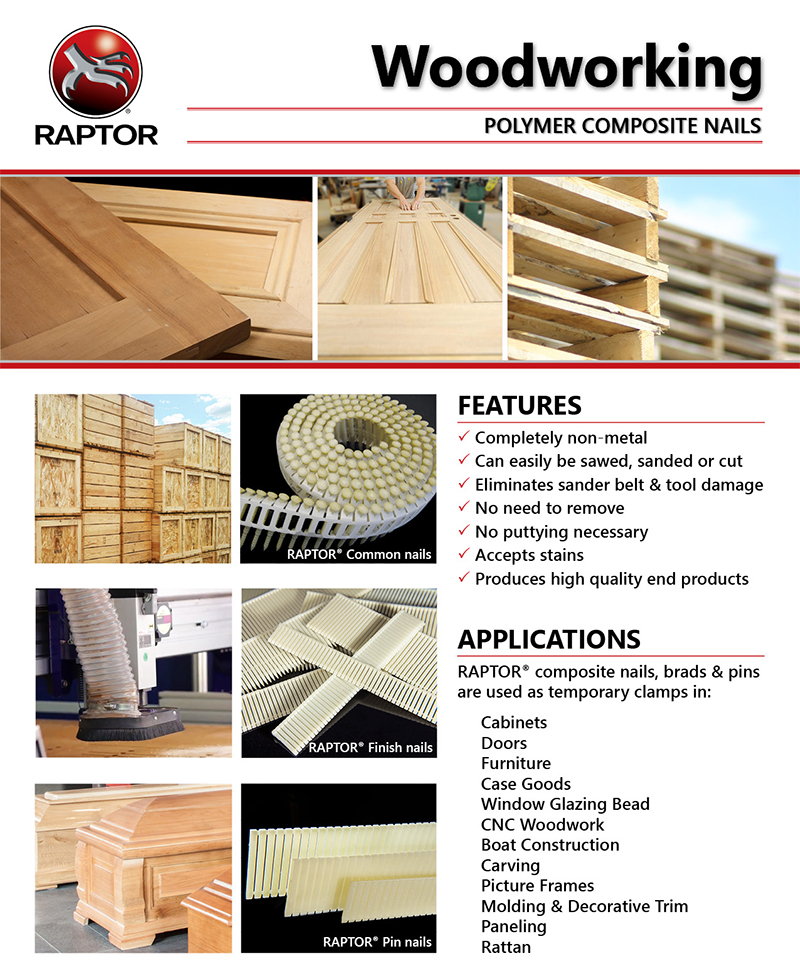 Raptor Polymer Composite Nails Staples Applications